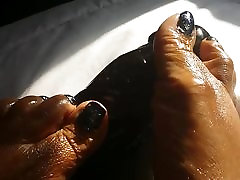 Feet and a sex video chat Black Dick