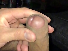 Huge cock shoots massive load with cum dripping in SLOWMO HD
