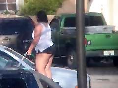 BBW Latina washing car part 1