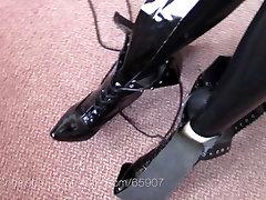 Jungiamąją iki derliaus fetišas batai kelio aukštas