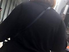 Bbw booty white milf in black pants