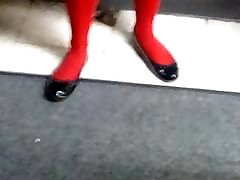Red for the sake of thesis with black flats