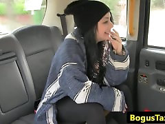 Deepthroating tattooed passenger teen any2 in taxi