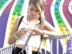 Sexy Teen Ass At The Fairground