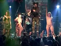 korrozia metalla metal concert girl darzi in the basement striptease on stage