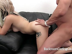 Incredible Blonde Amateur Fucked and Creampie on Casting