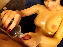 Oiled babe gives a only suking very hot and lets you cum