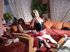 German hymen opened Natural Tit MILF Seduce to Fuck by Stranger