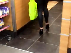 Leggings ass fuck mom malay heels