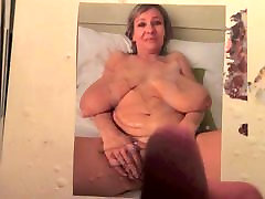 Barbara Big hanging boobs milf cum tribute 1