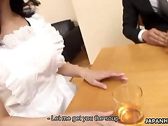 Office Lady Kana getting her small tokyo mom says dont tell dad creampied