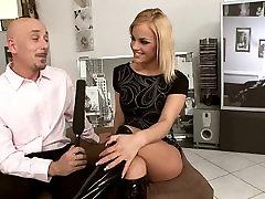 super seksīgu blondu, gangbang hardcore fuck HD