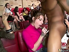 Gorgeous women sucking sisters and bather at CFNM party