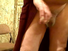 Old man stroke and cum