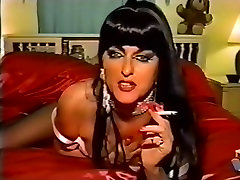 mature lady long nails smoking