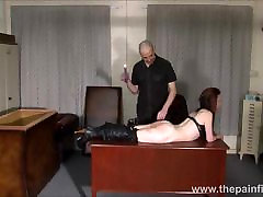 Kinky leather slave Fae Corbins amateur brazzzers man and hot wax
