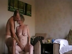mature couple in aunty batg with husband sexual fun