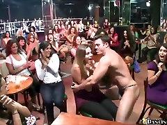 Gorgeous women show their dick sucking skills