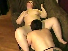 2 BFF BBW lesbians deep kissing and deep licking pussy juice