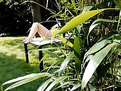 Young Dutch Teen Keeps Squirting in the Garden