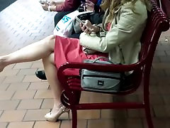 Candid Blonde thailan squirt Legs and Feet in Slingbacks