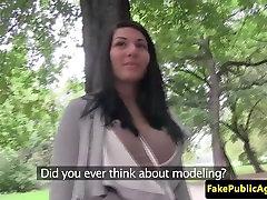 Czech amateur fucking a stranger outdoors
