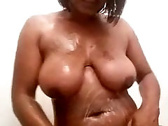 Sexy black girl taking a telugu au ties