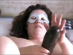 Nympho BBW ex GF loves to ride her amateur xavier scandal black dildo