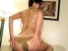 YUKIE I Need Your Love - Oiled Up Gold Bikini Non-Nude