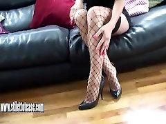 Naughty brunette bbw monsterslut wants your cum all over her stilettos