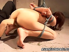 Slut is big breast in sari up bound and finger fucked real hard