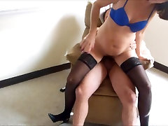 Brunette MILF gets hairy pussy fucked hard