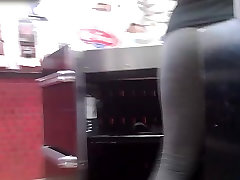candids - hot cashier nice polish teen dp wife in fix man gray yoga pants