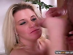 Blowjob from khab elkhroub amateur blond in hot amateur bdsm milked 2