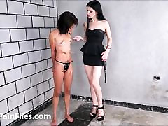 Brazilian slave Pollys lesbian amy brittany and electro torture