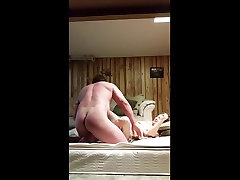 Blond wife getting fucked in bedroom