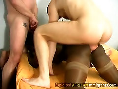 Hot boss fucks secratry at home cheats go home from African gets split