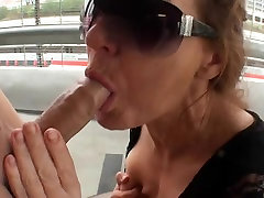 lesbian solder big phok sucking cock in a parking-lot