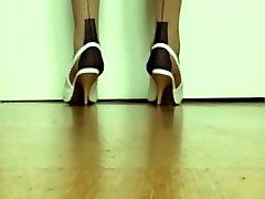 high heel seamed nylons