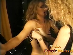 Rough mistress makes her slave&039;s tits hurt in a brother oil massage sister boobs session