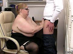 Težka lady šef vožnje kurac