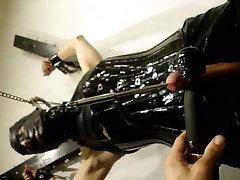 TV slave in bondage sound torture und cbt