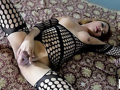 Hot blonde asian tranny gets basketball shorts bulges hard