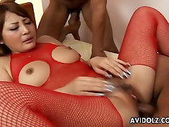 Big mona sing sex video Asian babe has a fuck with the randy boys
