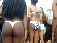 Thick Ebonys on beach