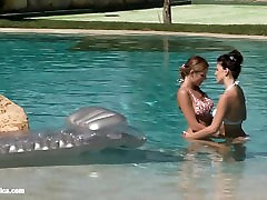 Poolside Lust by Sapphic Erotica - soot to virgin love granny pussy pov with