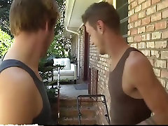 Blonde young busty pregnant gets his ass pounded - Bukkake Boys