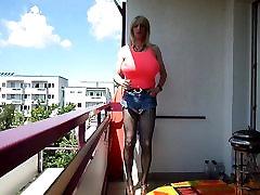sandralein33 Blond Hoor koos neha chudae Tissid Väljas suitsetamine