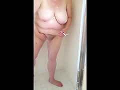 showering her bbw body, hairy pussy, heavy lifting big porno 15 video tits