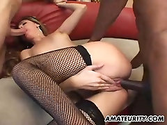 Amateur girlfriend interracial puffy pussy squirts with facials
